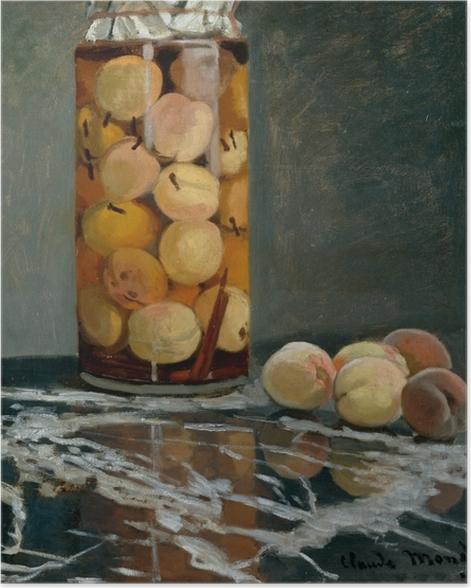 Poster Claude Monet - Le bocal de pêches - Reproductions