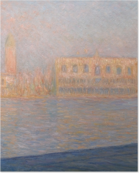 Poster Claude Monet - Le palais des Doges vu de San Giorgio Maggiore - Reproductions