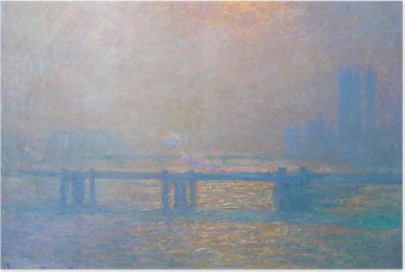 Poster Claude Monet - Le Pont de Charing Cross - Reproductions