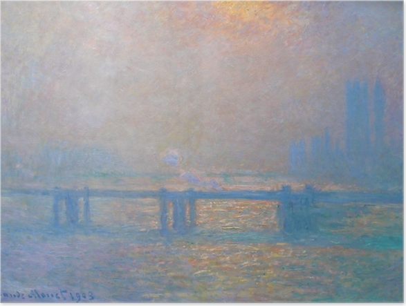 Poster Claude Monet - Le Pont de Charing Cross - Reproductions