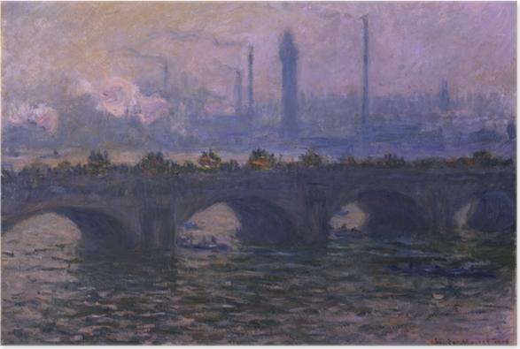 Poster Claude Monet - Le Pont de Waterloo - Reproductions