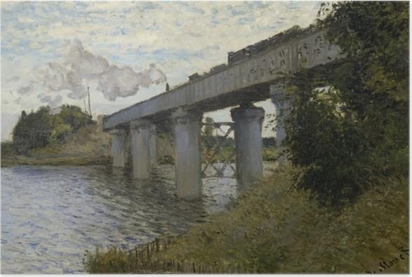 Poster Claude Monet - Le Pont du chemin de fer à Argenteuil - Reproductions