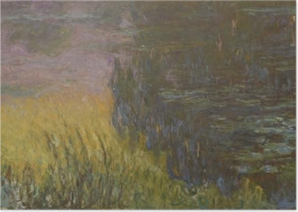 Poster Claude Monet - Les Nymphéas : Soleil couchant - Reproductions