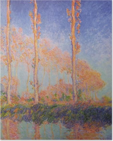 Póster Claude Monet - Los tres álamos en otoño - Reproducciones