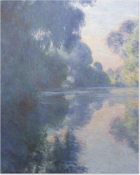 Poster Claude Monet - Matin sur la Seine - Reproductions