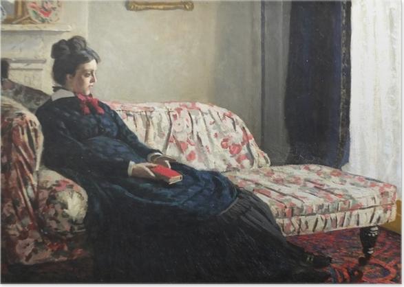 Poster Claude Monet - Méditation. Madame Monet au canapé - Reproductions