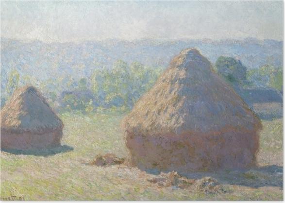 Poster Claude Monet - Meule - Reproductions