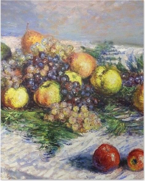 Poster Claude Monet - Nature morte aux poires et raisins - Reproductions