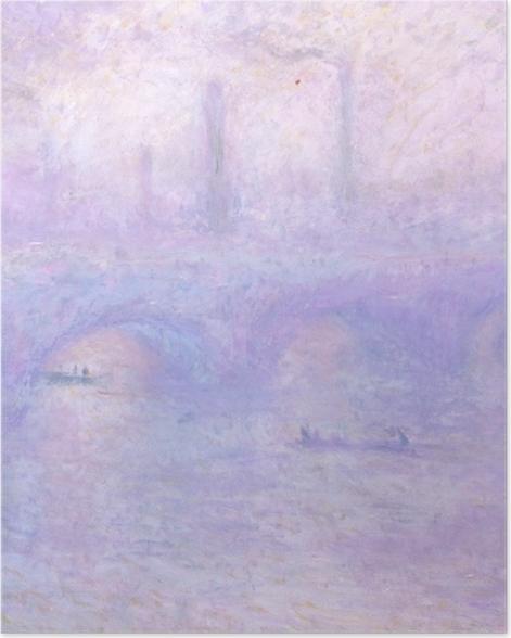 Poster Claude Monet - Pont de Waterloo, au crépuscule - Reproductions