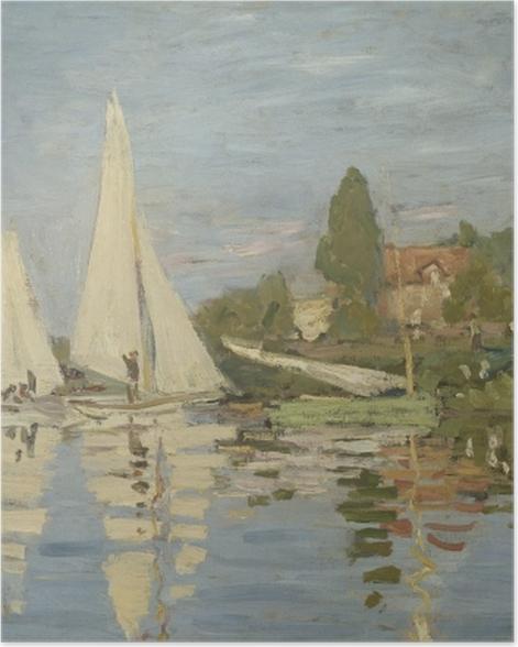 Poster Claude Monet - Régates à Argenteuil - Reproductions