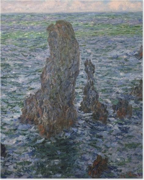 Poster Claude Monet - Rochers à Belle-Île, Port-Domois - Reproductions