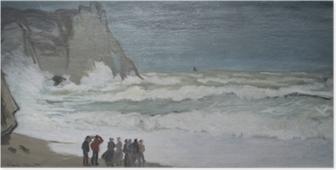 Poster Claude Monet - Ruige zee bij Etretat