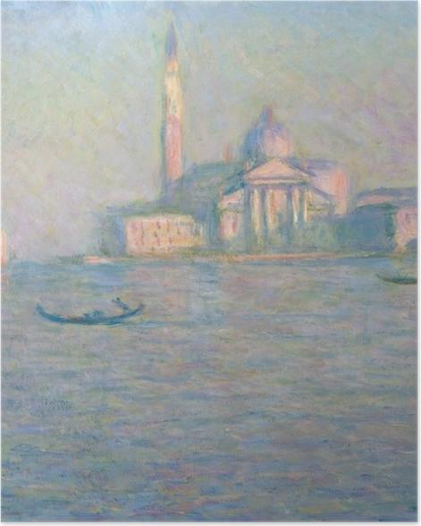 Poster Claude Monet - Saint-Georges-Majeur au crépuscule - Reproductions