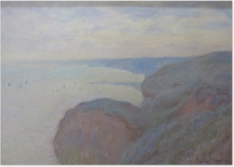 Claude Monet - Steef Cliffs near Dieppe Poster