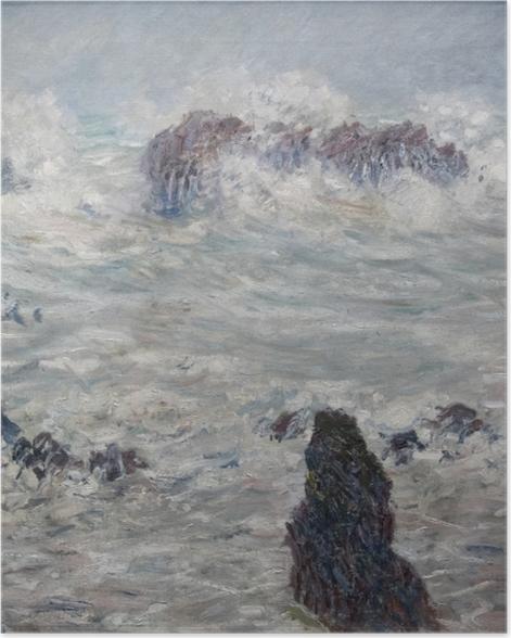 Poster Claude Monet - Tempête, côtes de Belle-Ile - Reproductions
