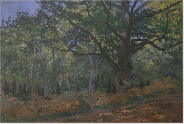 Claude Monet - The Oak at Bas-Bréau Poster - Reproductions