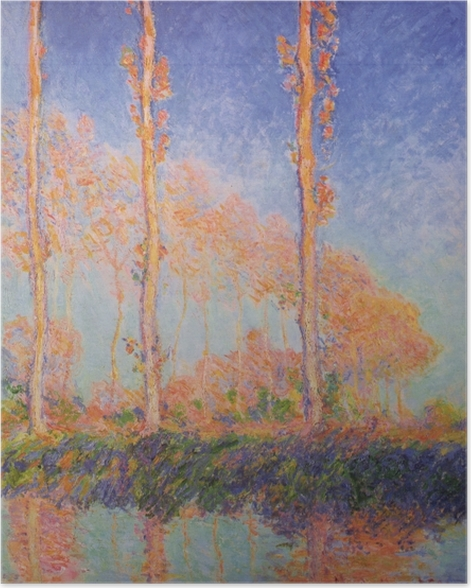 Claude Monet - The Three Poplars in Autumn Poster - Reproductions