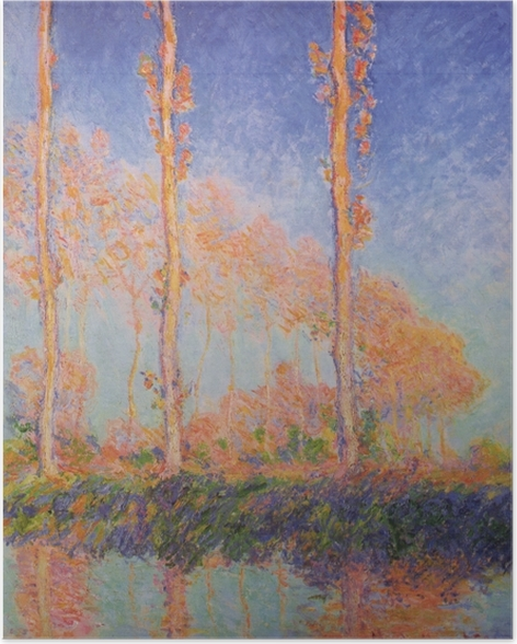 Poster Claude Monet - Trois Peupliers en automne - Reproductions