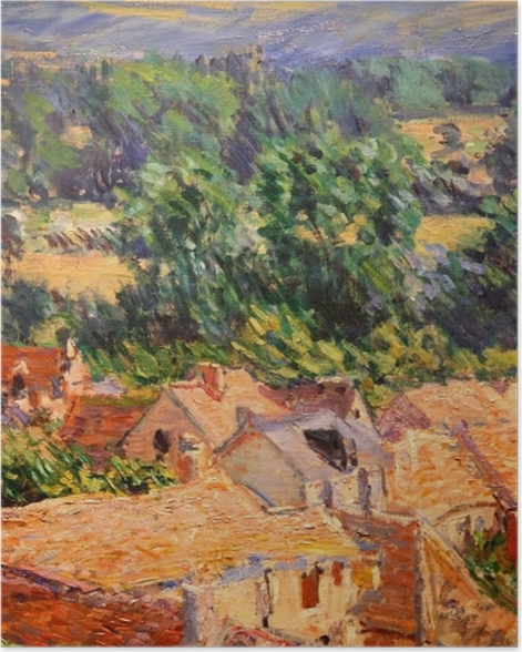 Poster Claude Monet - Vue du village de Giverny - Reproductions