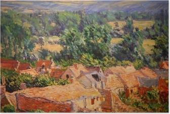 Poster Claude Monet - Vue du village de Giverny