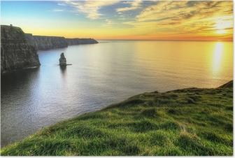 Poster Cliffs of Moher bij zonsondergang - Ierland