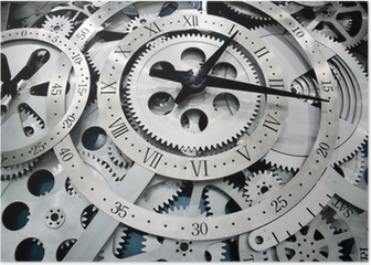 clock and gears Poster