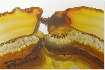 Poster Close up d'une tranche Agate Gemstone
