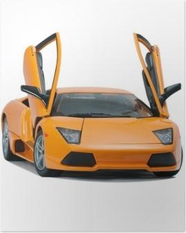 Poster Collectible toy model Lamborghini vooraanzicht