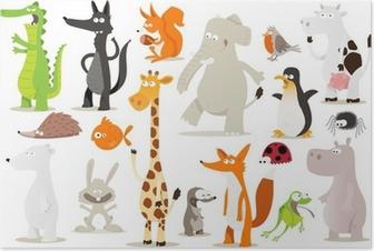 collection d'animaux pour enfants Poster