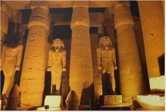 Poster Colonnes géantes de l'ancienne ville égyptienne Luksor