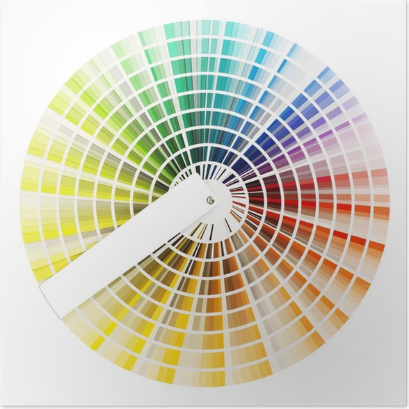 Color Swatch Chart Isolated On White Poster Pixers We Live To