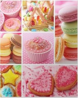 Poster Colorful collage des gâteaux
