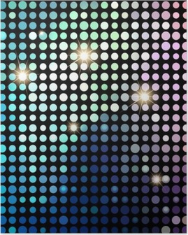 Poster Colorful Dots Abstract Disco. Vector Background