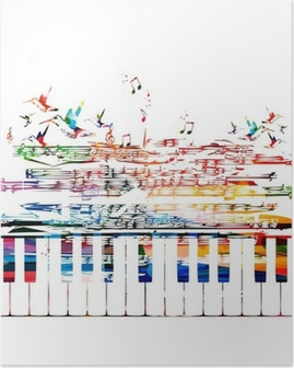 colorful music background Poster