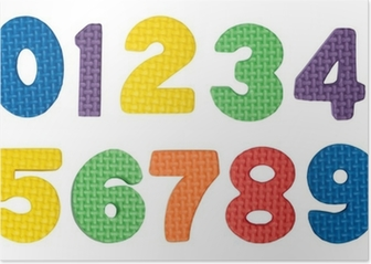 Colorful numbers Poster