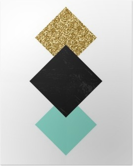 Póster Composición geométrica abstracta