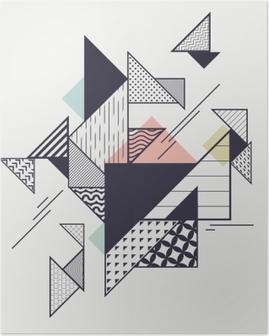 Poster Composition géométrique moderne abstrait
