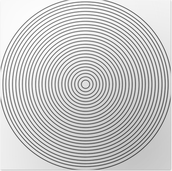 Concentric circle element on a white background Poster