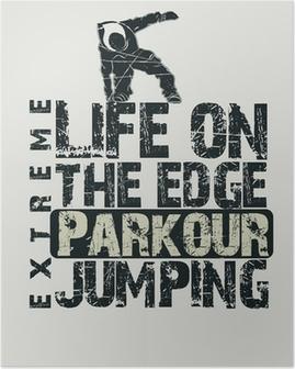 Poster Concept Parkour t-shirt