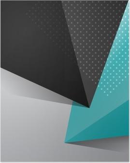 Poster Conception abstraite de fond bleu et noir