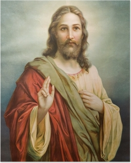 Copy of typical catholic image of Jesus Christ Poster