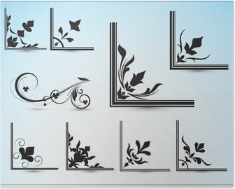 Corner Vector Designs Poster • Pixers® - We live to change