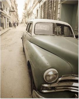 Cuban antique car Poster