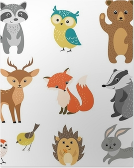 Cute forest animals Poster