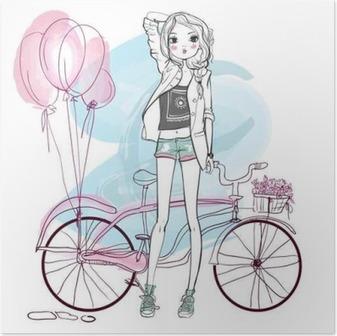 cute summer girl Poster