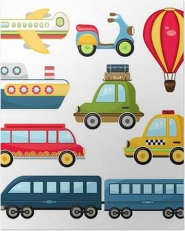 Cute Vector Transportation Poster