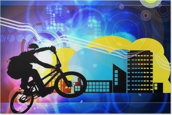 Poster Cycliste BMX