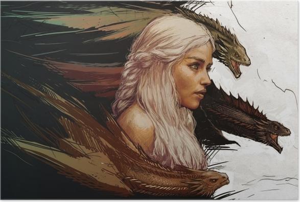 Poster Daenerys Targaryen - Teman