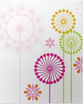 Dandelions colored Poster