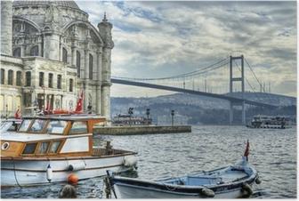 Poster Där två kontinenter möts: istanbul